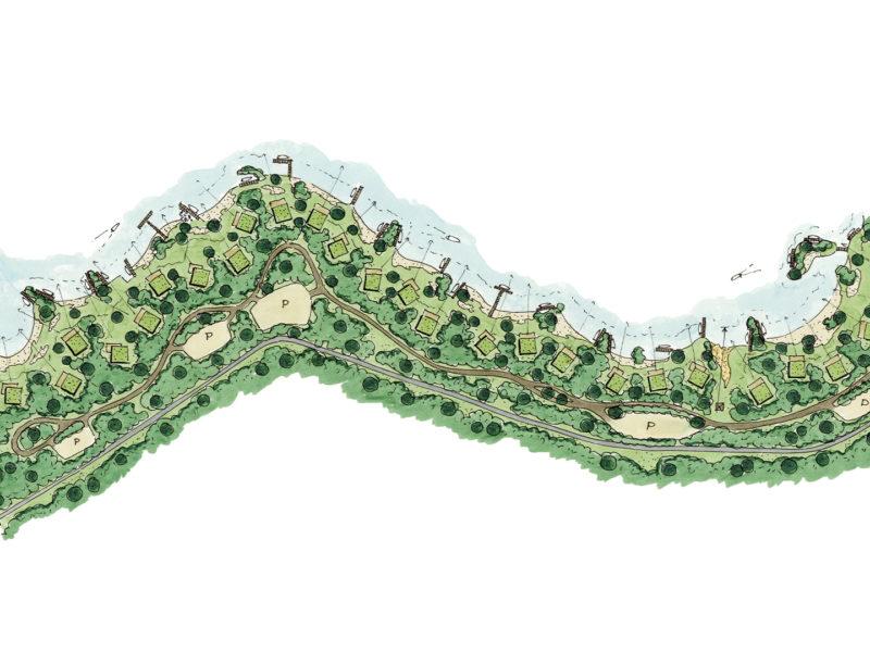Ter Hills Holiday Resort (België) - architectuur planconcept schets