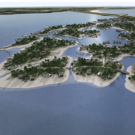Brouwerseiland (Brouwersdam) - birds eyeview (uitgelicht)