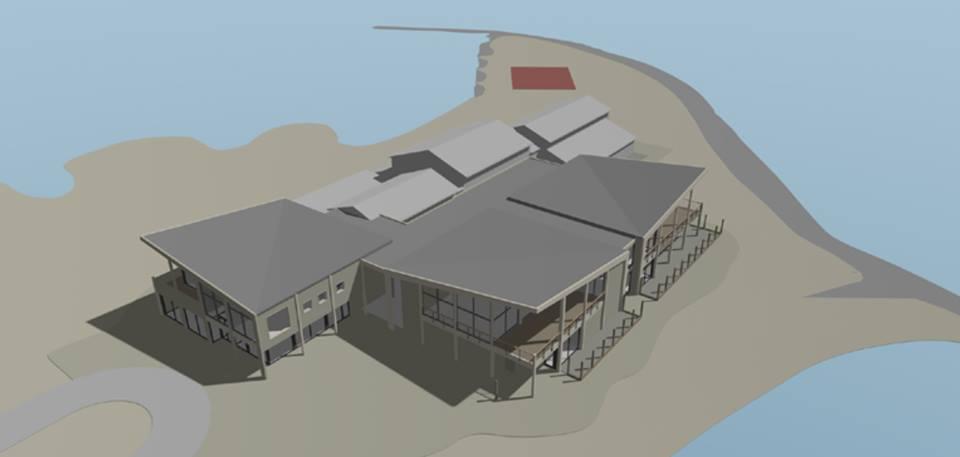 Centrumgebouw Zeil- en Surfcentrum (Brouwersdam) - 3D impressie