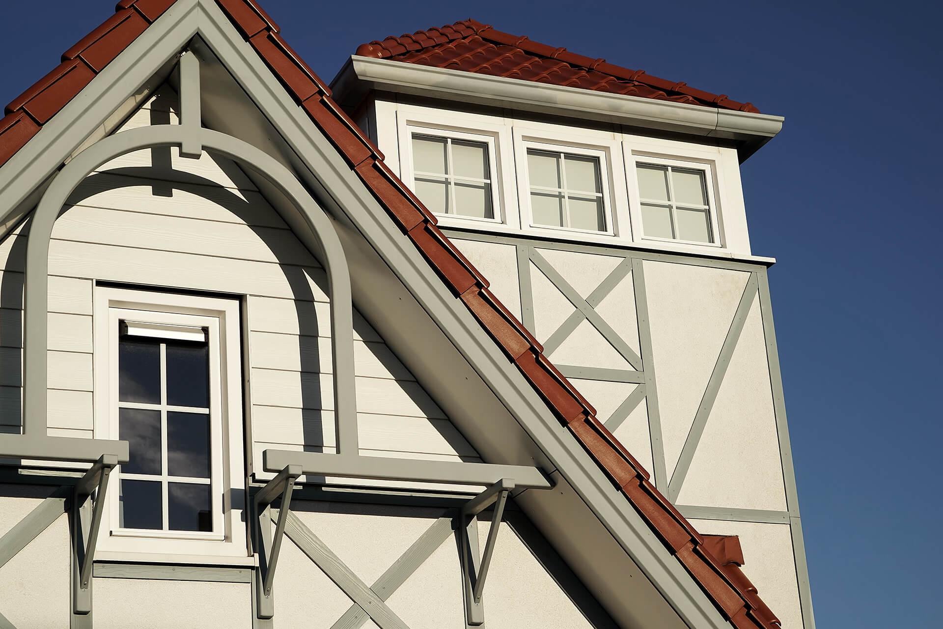 Leisure Architectuur - Noordzee Résidence Cadzand-Bad - Vakantie villa gevel detail