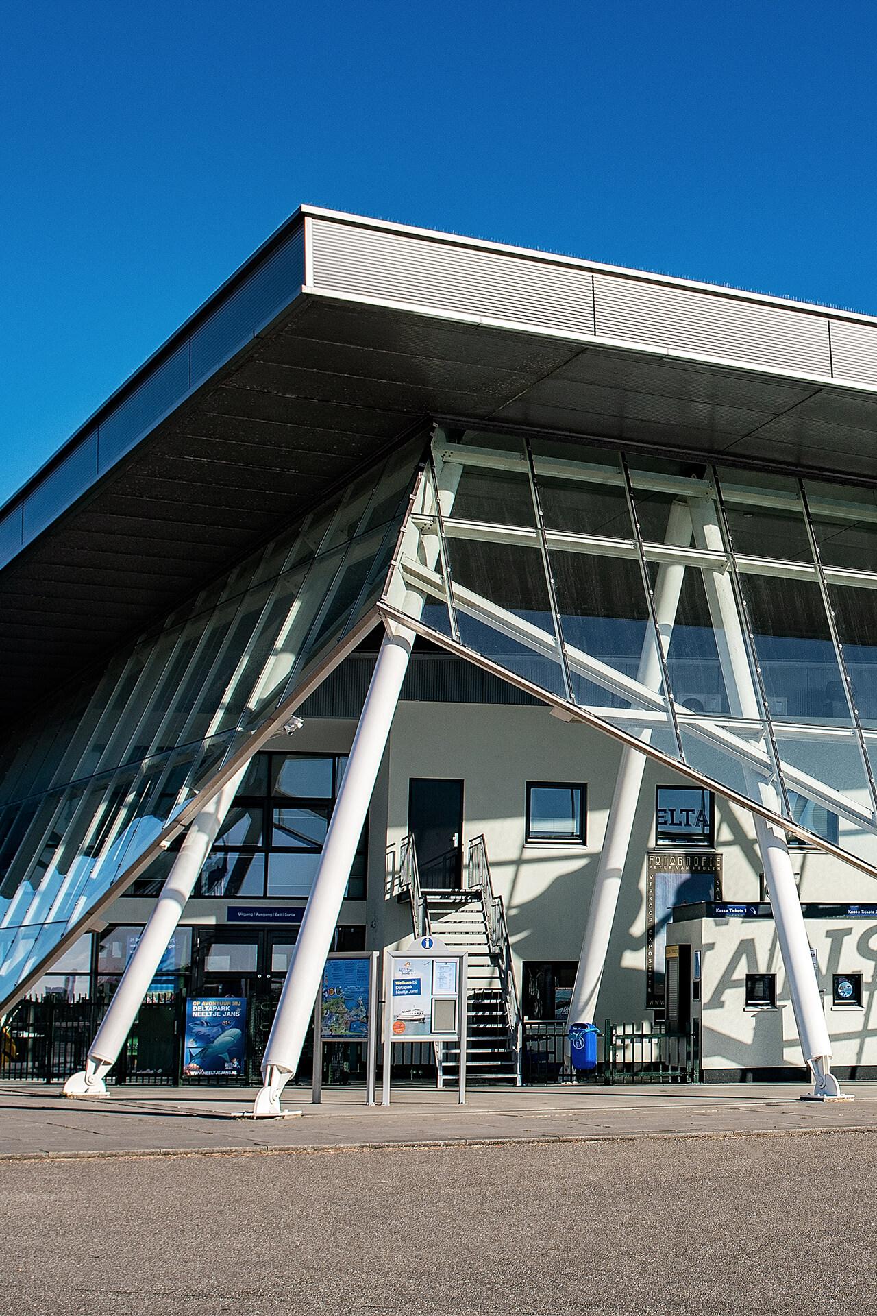 Unieke Architectuur - Delta Plaza Neeltje Jans (Vrouwenpolder) - toegang museum