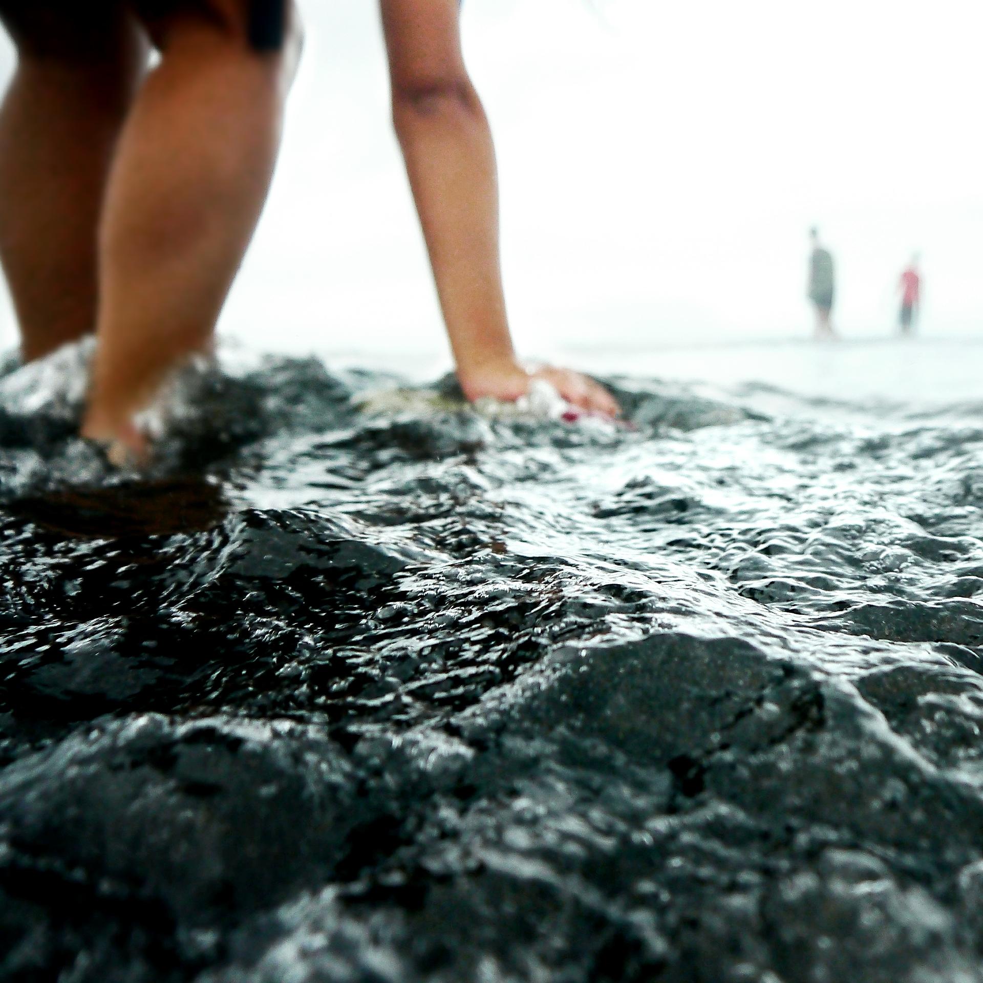 Mensen in het zeewater