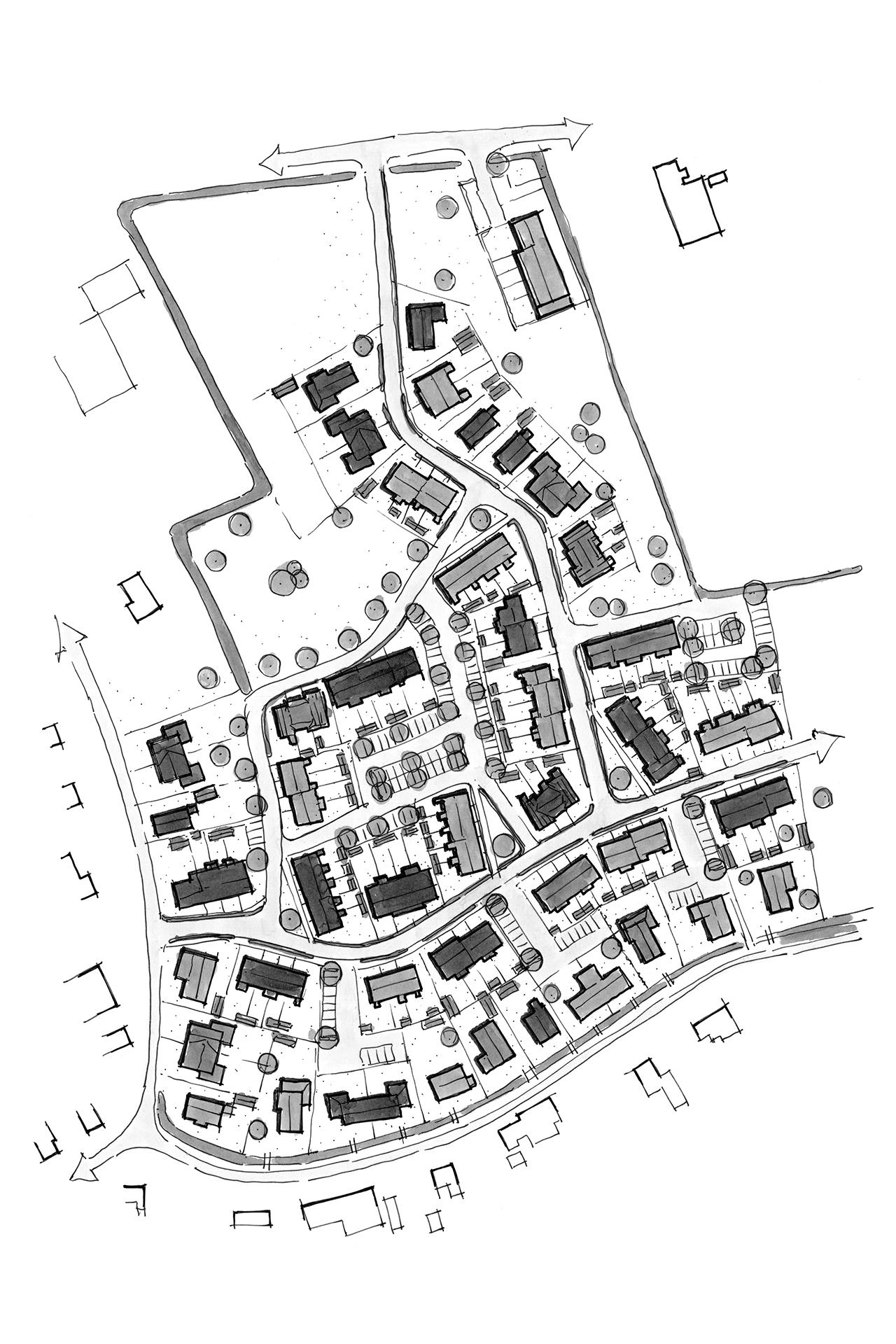 Welgelegen (Ouddorp) woningbouw - schets planstudie