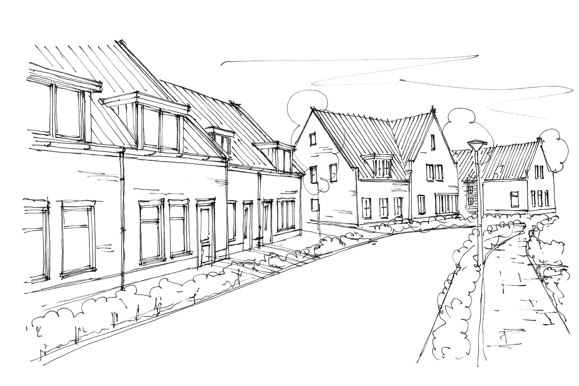 Welgelegen (Ouddorp) woningbouw - schets straatbeeld