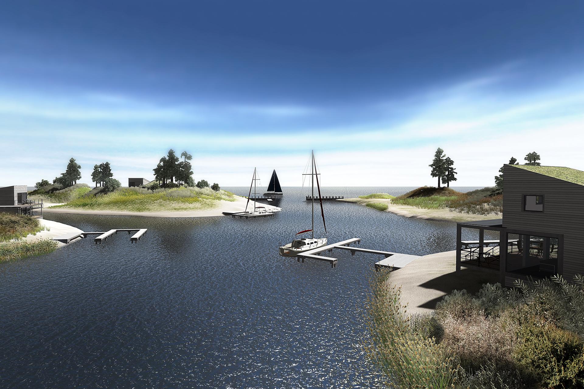 Brouwerseiland (Brouwersdam) - architectuur