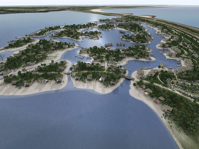 Brouwerseiland (Brouwersdam) - vogelvlucht