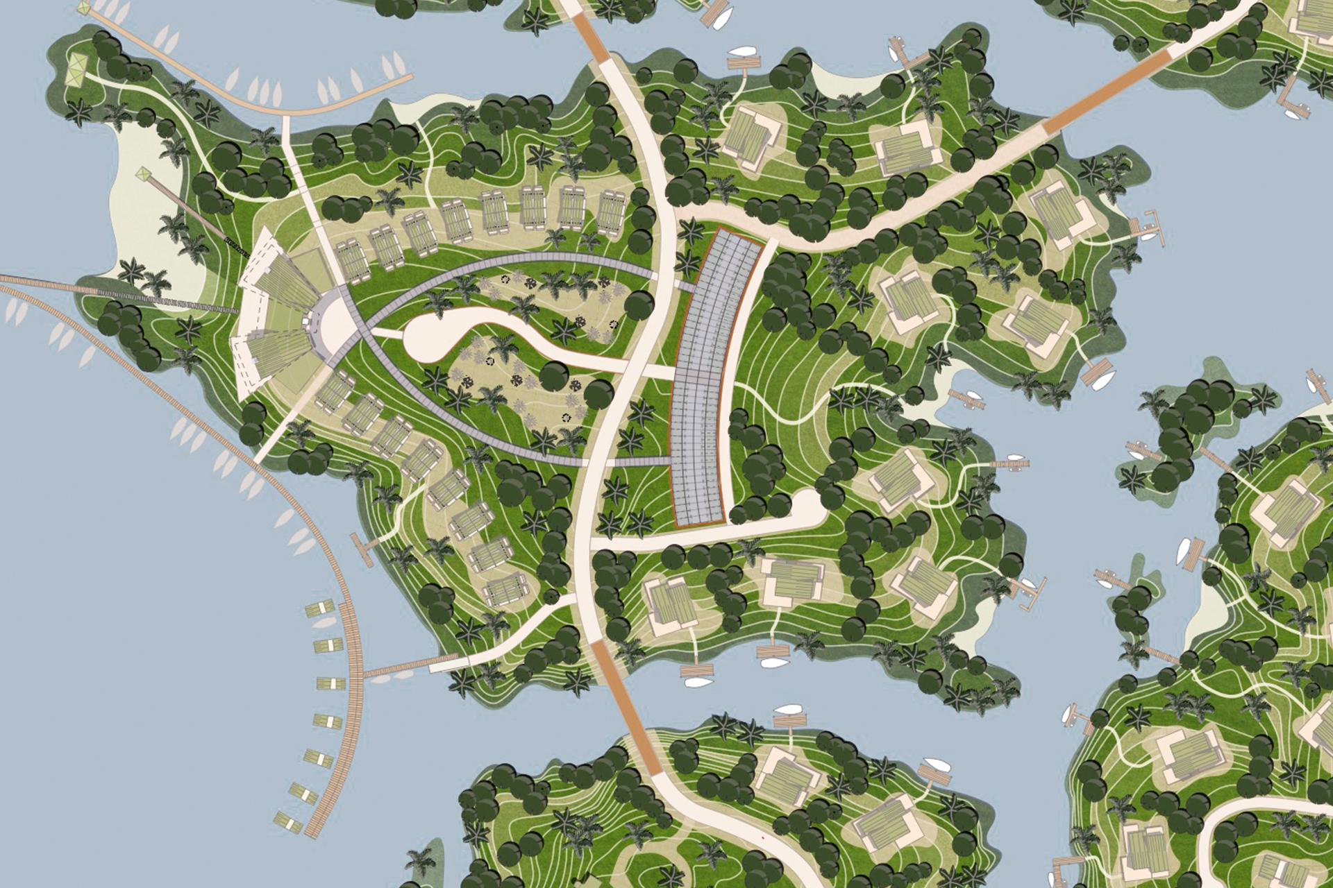 Gatunmeer (Panama) - architectuur planconcept ordening [2]